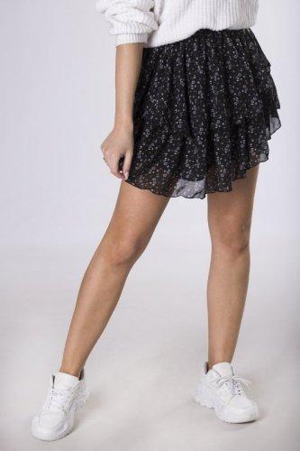 spódnica mini w drobny deseń