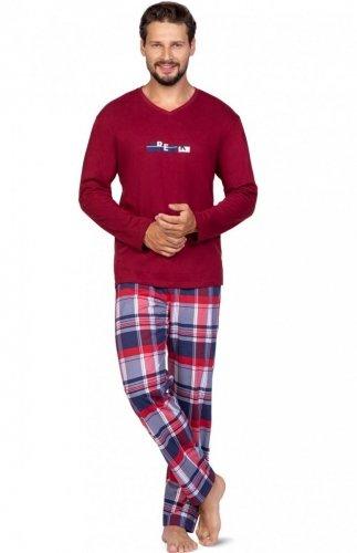Piżama męska z dekoltem w szpic Regina 587 2XL