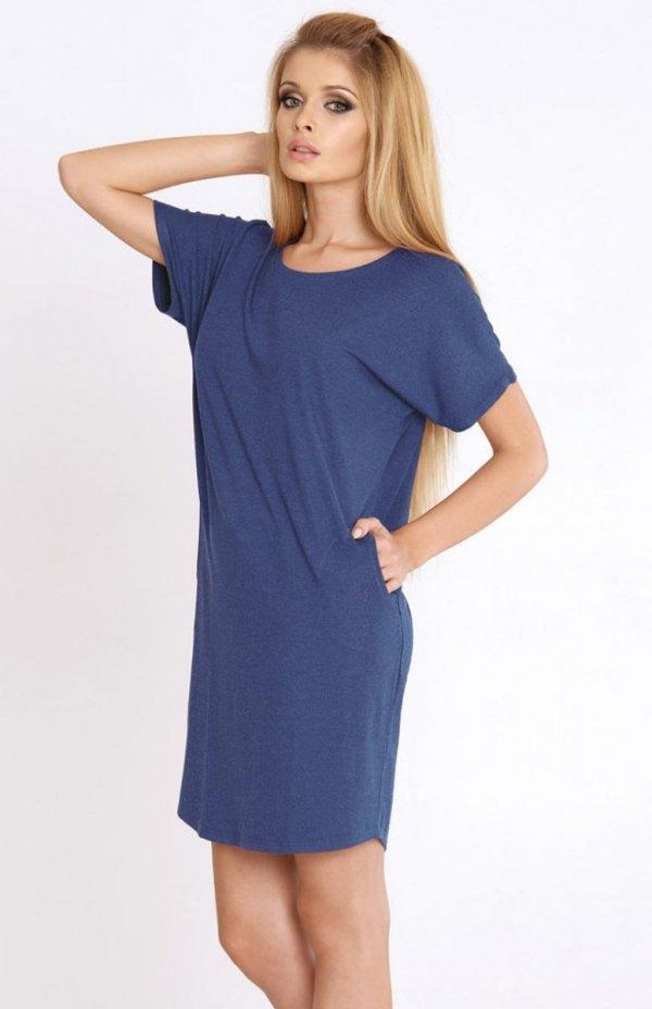 koszulka nocna de lafense paula 523 niebieska