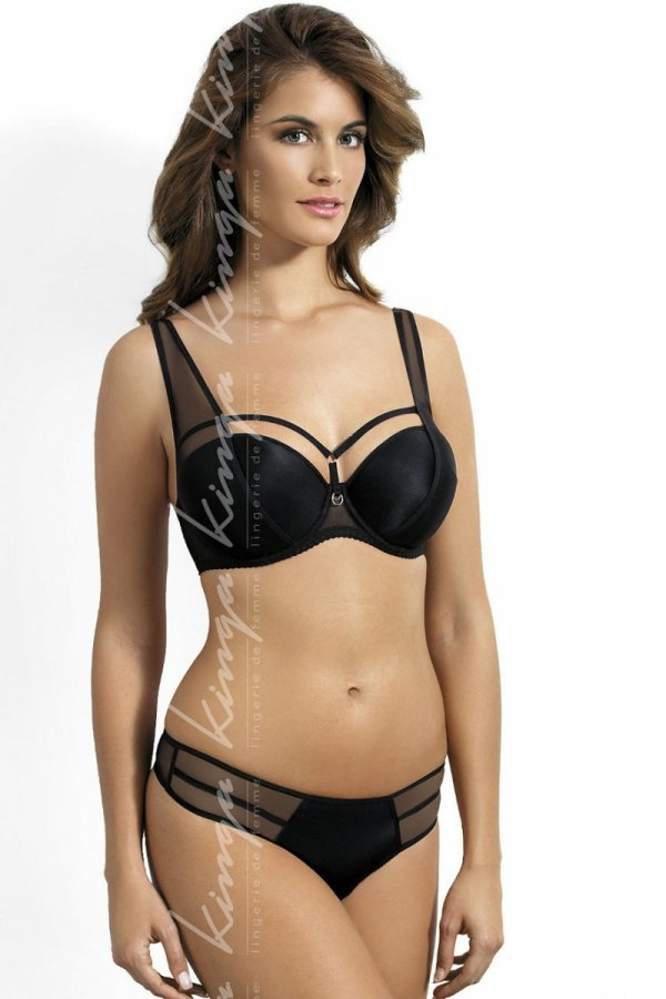 Biustonosz push-up Kinga PU 427 Onyx I