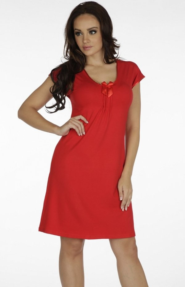 koszula nocna de lafense visa 874 czerwona