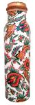 Butelka miedziana ornament roślinny, 750ml