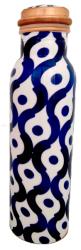 Butelka miedziana ornament niebieski, 750ml