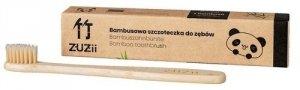 Bambusowa szczoteczka do zębów dla dzieci, miękka, beżowa, ZUZii