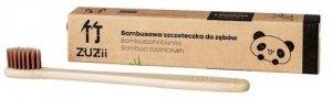Bambusowa szczoteczka do zębów dla dzieci, miękka, brązowa, ZUZii