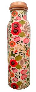 Butelka miedziana, kwiaty, 750ml