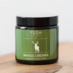 Świeca sojowa mango limonka 120ml, Yush