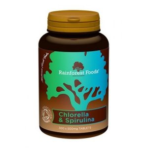 Chlorella & Spirulina BIO, Rainforest Foods (300tab.)