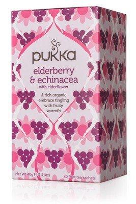 Herbata Elderberry&Echinacea - Pukka, 20 saszetek