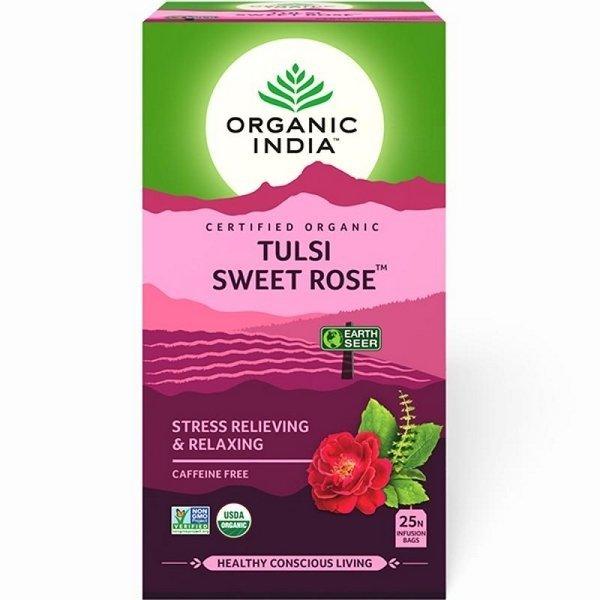 Herbata Tulsi Sweet Rose w torebkach, Organic India