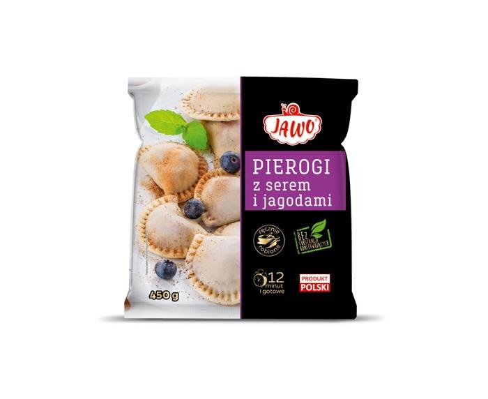 [JAWO] Pierogi z jagodami i z serem 450g 10 szt w kartonie
