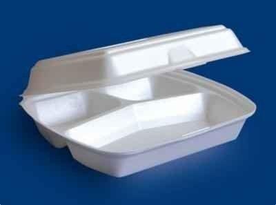 [LINPAC] Pojemnik styropianowy obiadowy 3-dzielny biały /250 szt.