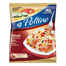 1047 Poltino Kebab z Warzywami 600g 1x10