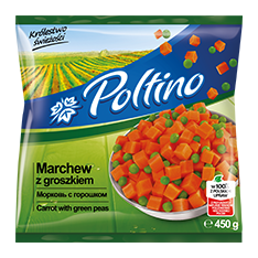 1024 Poltino Marchew Z Groszkiem 450g 1x12