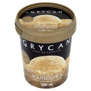 9202 Lody GRYCAN waniliowe PREMIUM 500 ml 1/6