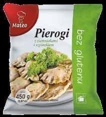 7038 MATEO Pierogi ziemniaczano-szpinakowe BEZ GLUTENU 450g 1x12