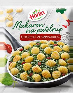 1161 Hortex MNP Makaron Na Patelnię ze szpinakiem Gnocchi 450g 1x8