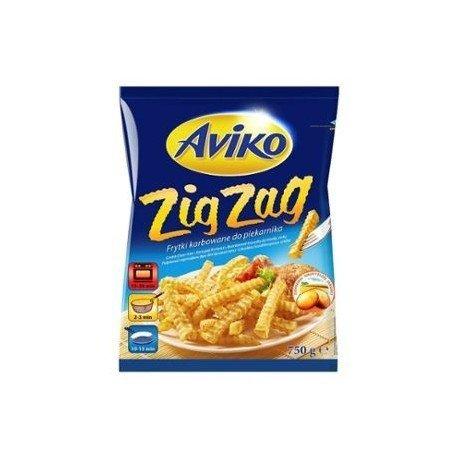 Aviko Frytki Karbowane ZIG ZAG 750g 1x12