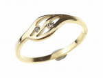 ring 17,30mm gold stainless steel