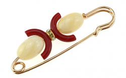 elegant gold brooch