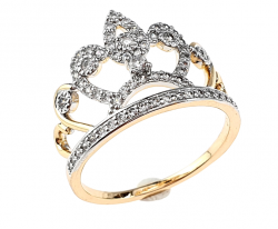gold ring 19,00mm. gold-plated engagement xuping