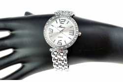 elegant silver classic watch
