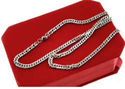 silver chain, stainless steel
