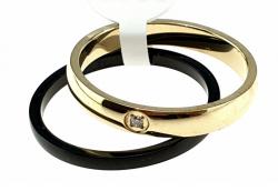 388L pierścionek 18,00mm porcelana stal chirurgiczna