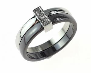 ring. 17.30mm porcelain. Stainless steel