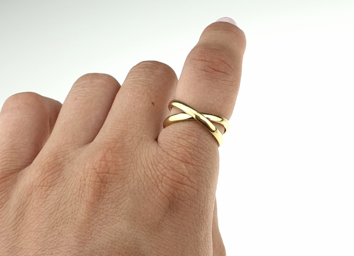 ring 20,00mm gold stainless steel