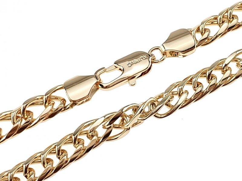 0306 Złoty łańcuszek 60cm 7mm pozłacany