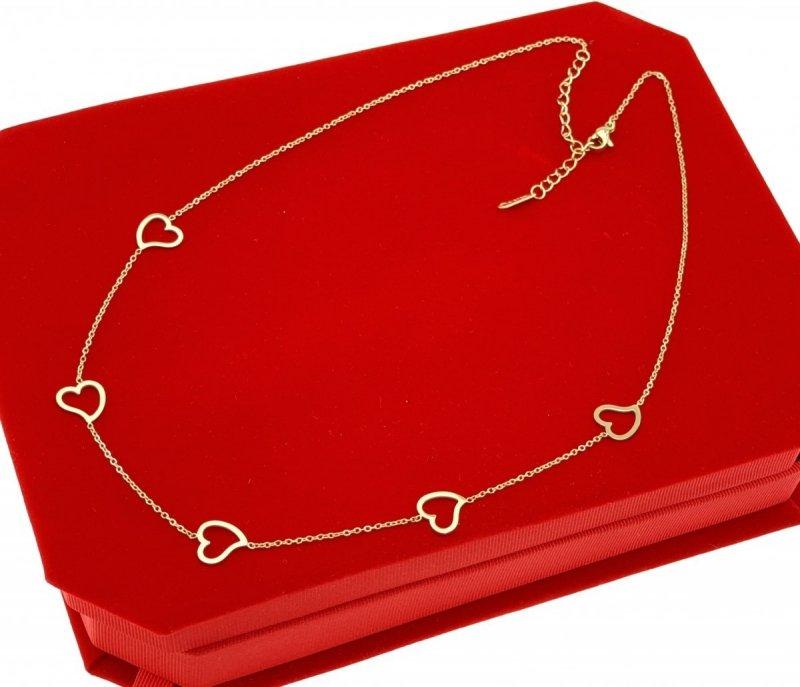1088 Złoty łańcuszek celebrytka naszyjnik stal chirurgiczna