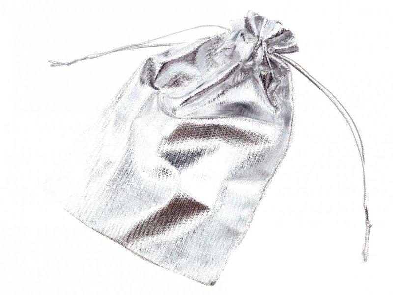 PU62 1x srebrny woreczek na biżuterię  / prezent