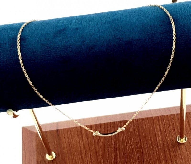 0275 Złoty łańcuszek celebrytka naszyjnik stal chirurgiczna