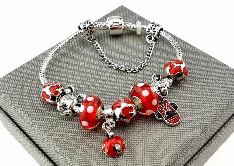 2145 Bransoletka srebrna modułowa charms koralki
