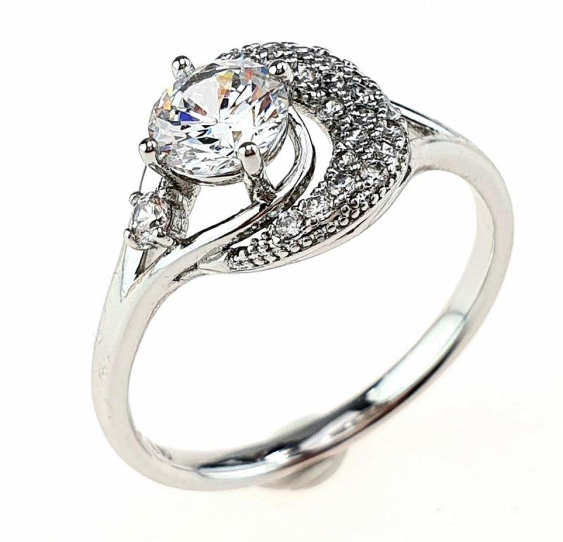 2320c Pierścionek 16,60mm srebrny zaręczynowy Xuping