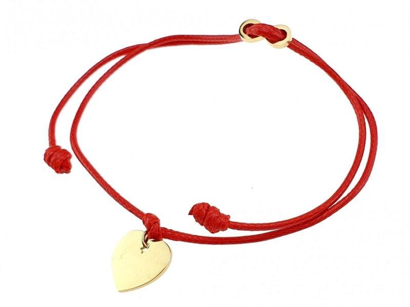 3149 Bransoletka złota celebrytka sznurek stal chirurgiczna