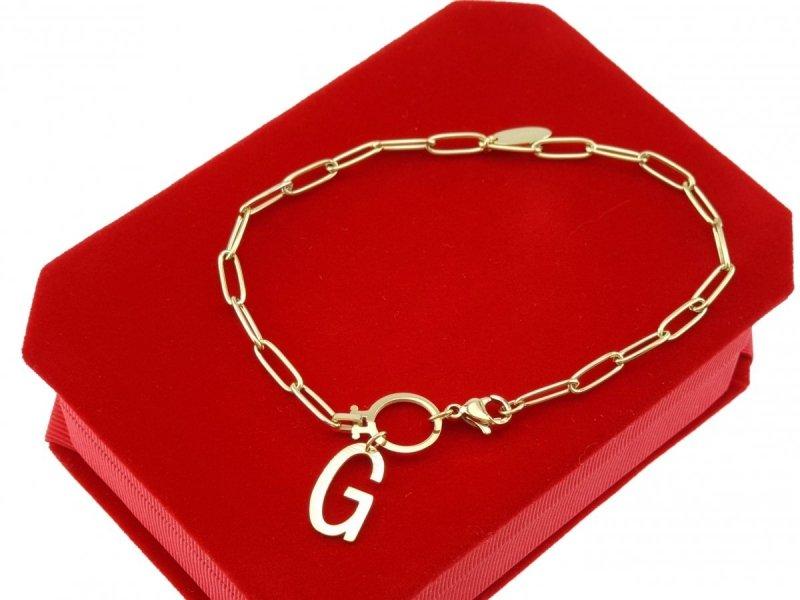 3405 Bransoletka złota celebrytka stal chirurgiczna Blueberry
