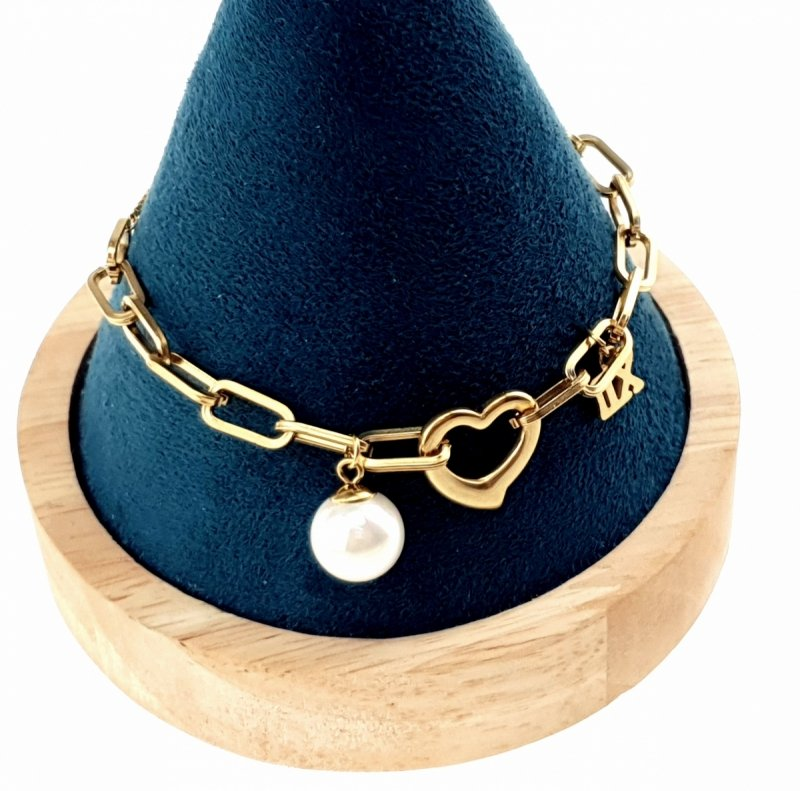 1825 Bransoletka złota 24cm celebrytka stal chirurgiczna