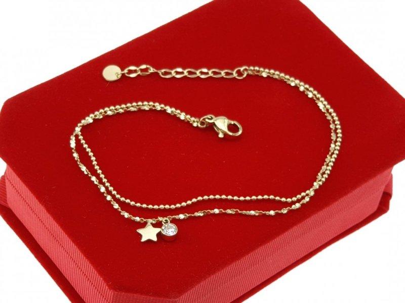 790 Bransoletka złota celebrytka stal chirurgiczna