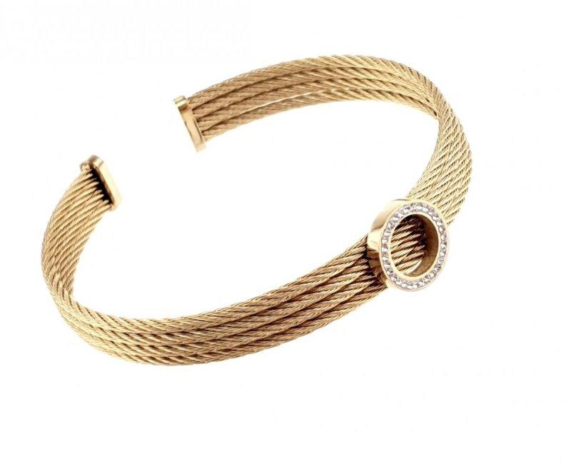 1788 Bransoletka złota stal chirurgiczna bangla
