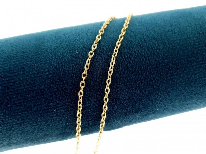 0232 Złoty łańcuszek 45cm 2mm stal chirurgiczna