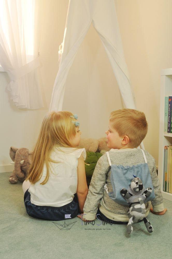 Plecak worek dla dziecka z przytulanką