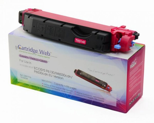 Toner Cartridge Web Magenta Kyocera TK5140 zamiennik TK-5140M