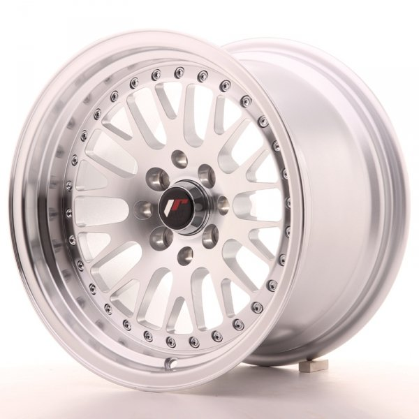 Japan Racing JR10 15x9 ET10 4x100/114 Machined Sil