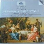 Musica Antiqua Köln, Reinhard Goebel • TTelemann: Tafelmusik (Trios und Quartette) • CD