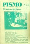 Pismo literacko-artystyczne 7-8-9/1984 • JL Borges, Allen Ginsberg, Leonard Cohen
