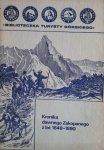 Józef Stolarczyk • Kronika dawnego Zakopanegoz lat 1848-1890