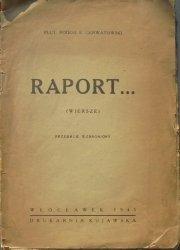 Plut. Podch. E. Gerwatowski • Raport (wiersze)