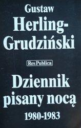 Gustaw Herling-Grudziński • Dziennik pisany nocą 1980-1983